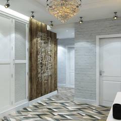 : Pasillos y recibidores de estilo  por Interior designers Pavel and Svetlana Alekseeva
