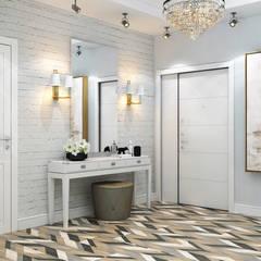 Pasillos y vestíbulos de estilo  por Interior designers Pavel and Svetlana Alekseeva