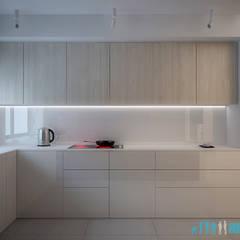 Projekt wnętrza kuchni w domu jednorodzinnym nad jeziorem Pławniowice: styl , w kategorii Kuchnia na wymiar zaprojektowany przez Archi group Adam Kuropatwa