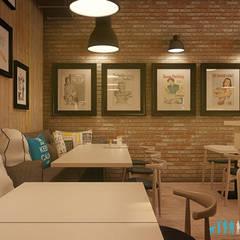 Projekt wnętrz lokalu gastronomicznego Naleśnikarnia Kamienica w Zabrzu: styl , w kategorii Gastronomia zaprojektowany przez Archi group Adam Kuropatwa