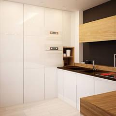 Projekt wnętrza kuchni domu jednorodzinnego w Zabrzu : styl , w kategorii Kuchnia na wymiar zaprojektowany przez Archi group Adam Kuropatwa
