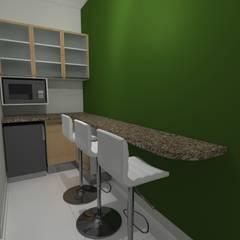Diseño Oficina Comercial: Muebles de cocinas de estilo  por B+ Studio,
