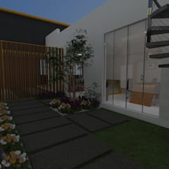 Diseño Oficina Comercial: Jardines zen de estilo  por B+ Studio