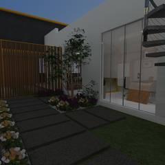 Zen garden by B+ Studio, Minimalist