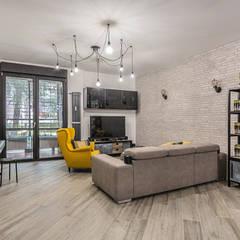 Ristrutturazione appartamento 85 mq Roma, Casilina: Soggiorno in stile  di Facile Ristrutturare