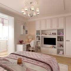 Дизайн интерьера 4-комнатной квартиры в классическом стиле, 204 м.кв. : Спальни в . Автор – Студия Павла Полынова