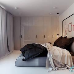 Projekt wnętrza sypialni w domu jednorodzinnym w Katowicach: styl nowoczesne, w kategorii Spa zaprojektowany przez Archi group Adam Kuropatwa