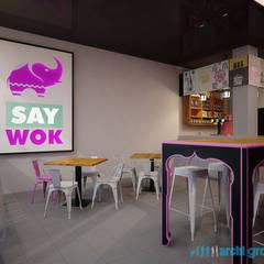 Projekt wnętrz restauracji Say Wok w Tarnowskich Górach: styl , w kategorii Gastronomia zaprojektowany przez Archi group Adam Kuropatwa