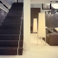 Projekt wnętrz domu jednorodzinnego w Rudzie Śląskiej: styl , w kategorii Sauna zaprojektowany przez Archi group Adam Kuropatwa