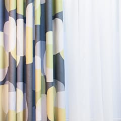 Beautiful curtains, blinds and soft furnishings:  Wooden windows by Bluebird Bespoke