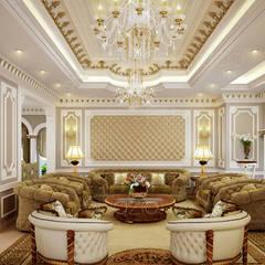 :  غرفة المعيشة تنفيذ Spazio Interior Decoration LLC,