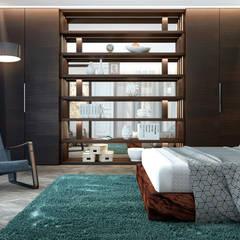 На грани стилей: Спальни в . Автор – U-Style design studio