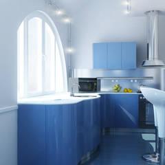 КВАРТИРА ОДИНОКОГО ПАРНЯ: Кухонные блоки в . Автор – СТУДИЯ ДИЗАЙНА ЭЛИТНЫХ ИНТЕРЬЕРОВ АЛЕКСАНДРА ЕЛАШИНА.