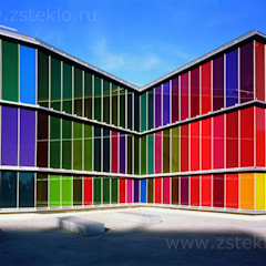 Разноцветное стекло : Офисы и магазины в . Автор – Zстекло, Модерн Стекло