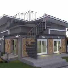 บ้านพักอาศัย ชั้นเดียว:  บ้านเดี่ยว โดย แบบบ้านออกแบบบ้านเชียงใหม่,
