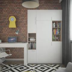 Mieszkanie 2+1: styl , w kategorii Domowe biuro i gabinet zaprojektowany przez hexaform