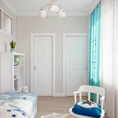 ห้องนอนเด็ก โดย Студия архитектуры и дизайна Дарьи Ельниковой,