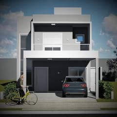 Projekty,  Dom jednorodzinny zaprojektowane przez Trivisio Consultoria e Projetos em 3D