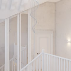 дизайн проект частного дома в стиле : модерн : Межкомнатные двери в . Автор – студия дизайна 'план и дизайн'