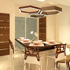DINING VIEW:  Dining room by MAD DESIGN