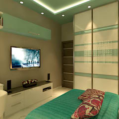 MASTER BEDROOM VIEW 2:  Bedroom by MAD DESIGN
