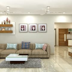 project gachibowli: asian Living room by shree lalitha consultants