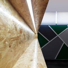 Salão de Jogos: Bares e clubes  por Linha D´Obra - construção e remodelação de interiores, Lda