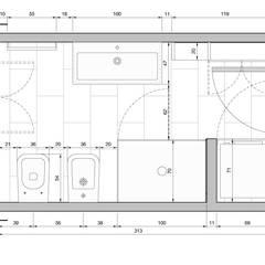 Bathroom by Studio PE  [patricio enriquez architetto],