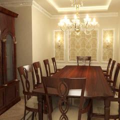 شقة سكنية ( دوبلكس ) في التجمع الخامس :  غرفة السفرة تنفيذ Quattro designs