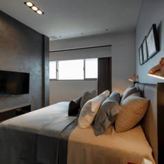 主臥電視牆:  臥室 by 存果空間設計有限公司