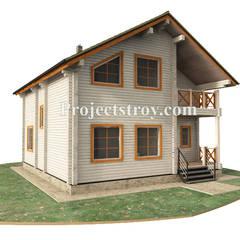 Проект дома из профилированного бруса: Деревянные дома в . Автор – Projectstroy
