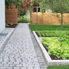 Vườn theo Garten-Landschaftsbau Hierreth-Felser GmbH, Mộc mạc