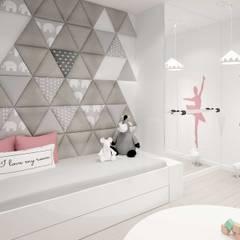 panele dekoracyjne dappi trójkąt: styl , w kategorii Pokój dla dziwczynki zaprojektowany przez DAPPI