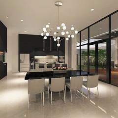 Sun House: Ruang Makan oleh Arci Design Studio,