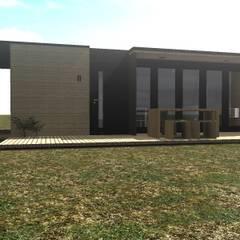 Cabaña C-V: Casas de madera de estilo  por Dakota Austral