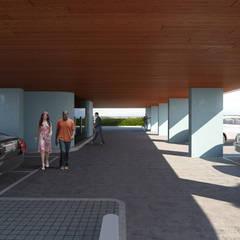 Estacionamento: Garagens e arrecadações  por Maia e Moura Arquitectura