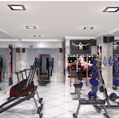 Academia: Fitness  por Abrahão de Oliveira   Arquitetura & Construção