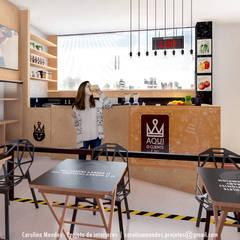 Quiosque Fitness - Rei Do Morumbi Espaços gastronômicos ecléticos por Carolina Mendes Arquiteta Eclético