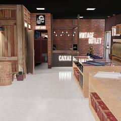 Loja Vintage Outlet 100m²: Espaços comerciais  por Carolina Mendes - Arquitetura & Design
