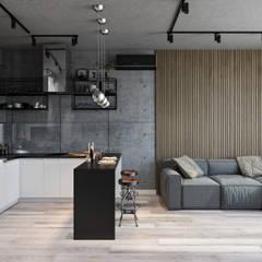 industrial Living room by Студия архитектуры и дизайна Дарьи Ельниковой