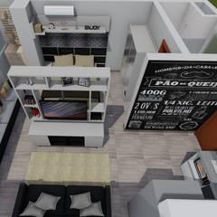 Reforma Apartamento 30 m².: Casas familiares  por Lumitê Arquitetura e Design