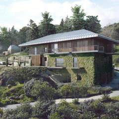 Projekty,  Dom rustykalny zaprojektowane przez David Bilo | Arquitecto