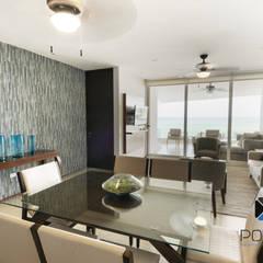 """""""PROYECTO CB36"""": Comedores de estilo mediterraneo por PORTO Arquitectura + Diseño de Interiores"""