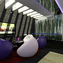 CASA BARRETEROS: Salas multimedia de estilo minimalista por IMA GEN