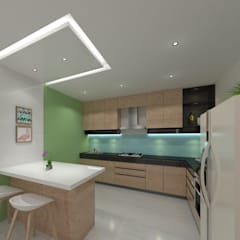 Kitchen:  Built-in kitchens by Ravi Prakash Architect