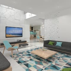 Living room by Ravi Prakash Architect