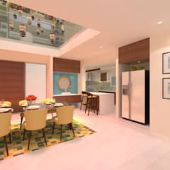 Comedores de estilo  por Ravi Prakash Architect