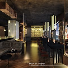 21STUDIO - Cafe & Bar Lounge @Golden Boutique Hotel:  Bar & Klub  by Michel Sen Architect