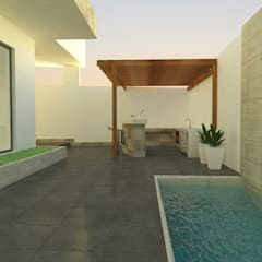 Garden Pool by SPACIO DISEÑO Y CONSTRUCCION,