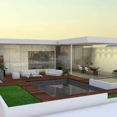 Projekty,  Basen do ogrodu zaprojektowane przez SPACIO DISEÑO Y CONSTRUCCION